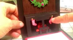 Christmas Blessings - use Stampin Up Dress Form to create fireplace for ...