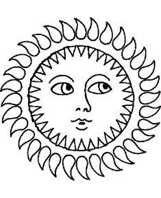 Summer Season Coloring page | Sun Face