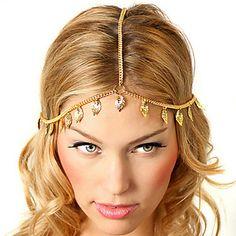 EUR € 2.99 - shixin® europese blad kwastjes gouden legering hoofdbanden voor vrouwen (1 st), Gratis Verzending voor alle Gadgets!