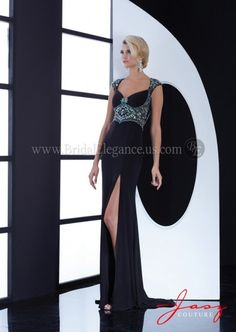Cap Sleeve Gown with Illusion Back
