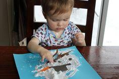 basteln-mit-kindern-unter-3-jahren-winter-schneemann-geschmolzen