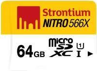Strontium Nitro 64GB 85MB/s UHS-1 Class 10 MicroSDXC Memory Card (SRN64GTFU1R) Rs.1149(48%Off) At Amazon