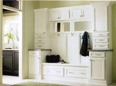 White Bathroom Vanities - RTA Kitchen Cabinets & Bathroom Vanity used to make a mud room coat rack