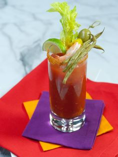 Geoffrey Zakarian flavors his bold Bloody Marys with sriracha, Worcestershire and horseradish, then serves them in glasses rimmed with Old Bay seasoning.