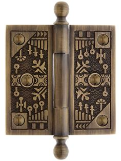 3 Ball-Tip Windsor Pattern Hinge In Antique-By-Hand Finish Decor, Decorative Boxes, Bohemian Interior, Wooden Laptop Stand, Metal Working, Door Handles, Aesthetic Design, Furniture Hinges, Decorative Hinges
