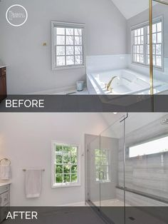 Master Bathroom Before And After carl & susan's master bath before & after pictures | master