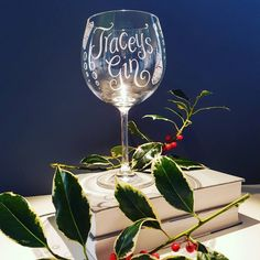 Personalised Gin Glasses Gin and Tonic glass Custom Gin