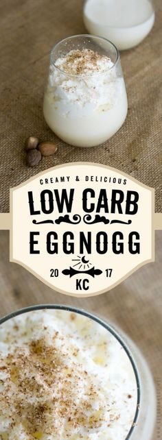 Our Keto Eggnog is the perfect, low carb, homemade holiday drink to make for your family and friends this year!