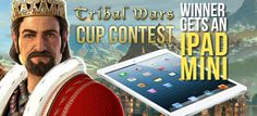 You can win an iPad Mini if you win the Tribal Wars Cup 2015 event.
