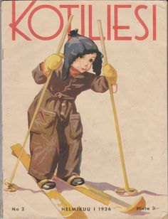 Kotiliesi Helmikuu I 1936 Old Commercials, Arts And Crafts, Paper Crafts, Magazine Articles, Vintage Children, Finland, Album Covers, Martini, Childrens Books