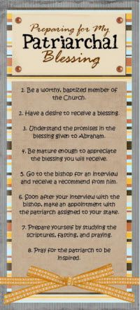 "Preparation for patriarchal blessings- This question comes up every year ""How do I prepare?"" Why couldn't I have seen this BEFORE church today. Lds Church, Church Ideas, Patriarchal Blessing, Young Women Lessons, Personal Progress, Church Activities, Scripture Study, Lds Quotes, Relief Society"