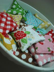 "Rice bag ""hand warmers"" to microwave this winter.  Make a BOWL FULL! ♡"