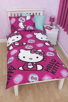 Kinder dekbedovertrek Hello Kitty in donker rose