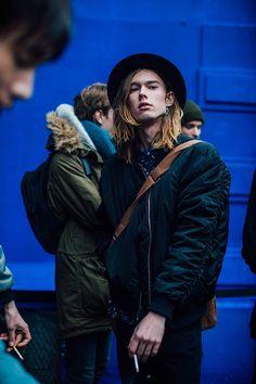 Fashion Week homme Street looks Paris automne hiver 2016 2017 122