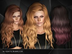 Venus AF hair 26 by Nightcrawler - Sims 3 Downloads CC Caboodle