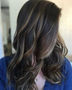 Trendy Hair Highlights : Just a super pretty balayage to end the night. For a first time balayage client,…, Balayage Brunette, Hair Color Balayage, Dark Hair With Highlights, Boliage Hair, Hair Color And Cut, Hair Color For Morena Skin, Brown Blonde Hair, Braids For Long Hair, Pretty Hairstyles