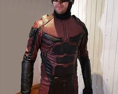 Daredevil Billy Club, Daredevil Suit, Archery Bows, Costume Accessories, Motorcycle Jacket, Costumes, Suits, Unique, Jackets