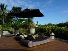 Auf der Terrasse des Spa Bereichs des Four Seasons Mauritius Resort