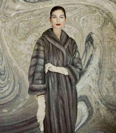 Carmen Dell' Orefice in Lutetia EMBA Mink Fur Coat, 1957