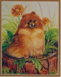 POMERANIAN #2 DOG PRINT signed by Ruth Maystead