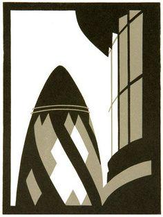 Gherkin By Paul Catherall, Linocut