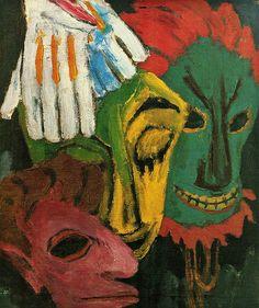 Emil Nolde - Masks III (1920)