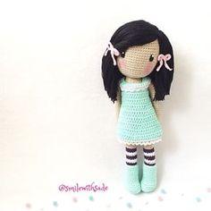 Irresistible Crochet a Doll Ideas. Radiant Crochet a Doll Ideas. Crochet Kawaii, Cute Crochet, Crochet Baby, Crochet Doll Tutorial, Crochet Doll Pattern, Crochet Patterns, Amigurumi Patterns, Amigurumi Doll, Doll Patterns