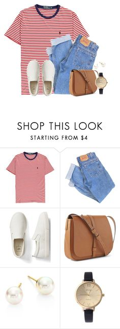 """Keeping it simple"" by victoriaann34 on Polyvore featuring Polo Ralph Lauren, Levi's, Gap and Majorica"