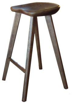 Tractor Solid Wood Bar Stool, Bar midcentury-bar-stools-and-counter-stools