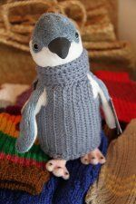 Worldwide campaign to knit and crochet sweaters for penguins affected by an oil spill .The sweaters keep the oil covered  penguins from poisoning themselves by preening and keep them warm while they wait for their turn to be cleaned off by cleanup workers. free knit and crochet patterns in the link.