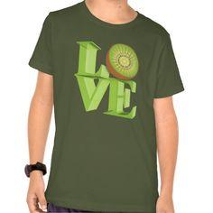 8a6a36f95e I LOVE KIWI(Kiwi Fruits/Kiwi Berry) T-Shirt | Zazzle.com