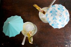 DIY Drink Umbrellas by food52 #DIY #Party #Drink_Umbrellas