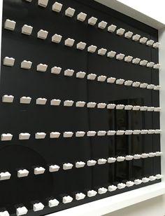 Large frame 105 #Lego Minifigures, white background and white frame #legominifigures  #legoframe