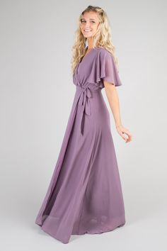34804bf76 Chiffon wrap maxi with long sleeves and tie belt. Lined Approximate bust  measurement  X
