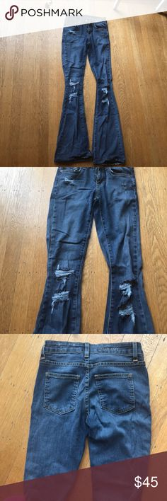 Carmar high waisted bell bottoms High waisted de stressed carmar bell bottoms. Great fit and flare. Only worn once! Carmar Jeans Flare & Wide Leg