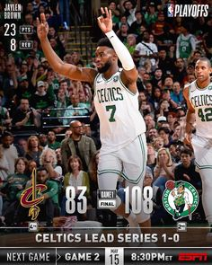 """""""The take Eastern Conference Finals lead with victory! Cleveland, Nba Basket, Eastern Conference Finals, Basketball Funny, Sports Graphics, Nba Playoffs, Boston Celtics, Victorious, Baseball Cards"""