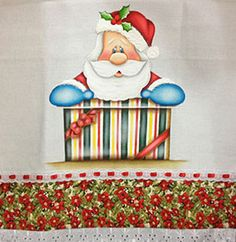 Pano de copa Papai Noel com presente