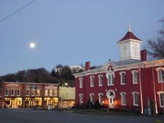 The square of Lynchburg, TN home of Jack...