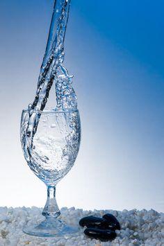Splash of Water Into Glass.