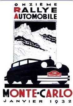 Affiche Rallye de Monte Carlo 1932 - Robert Falcucci (1900-1982) - simi25