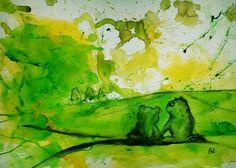 'Froschzeit - Frösche Bild' von Conny Wachsmann bei artflakes.com als Poster oder Kunstdruck $15.25