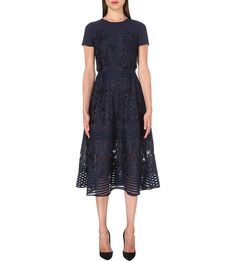 TED BAKER Jeyla guipure-lace midi dress