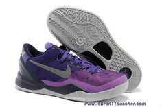 sports shoes 49268 371b8 2013 New Womens Nike Kobe 8 System Court Purple Pure Platinum-Blackened  Blue-Laser Purple Shoes Shop