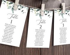 Seating Chart Template Editable Wedding Seating Chart | Etsy Table Seating Chart, Seating Chart Wedding Template, Seating Cards, Wedding Templates, Digital Invitations, Invitation Set, Wedding Seating, Wedding Table, Find Your Seat Sign