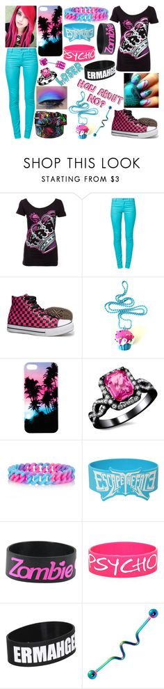 """""""Pink Ice"""" by toni-the-tiger-9699 ❤ liked on Polyvore featuring Cheap Monday, Cotton Candy, E.vil, River Island, Hot Topic and Jeffree Star"""