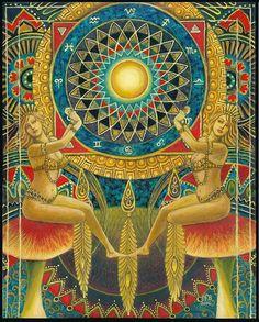 La ruota della fortuna 11x14 Tarocchi stampa arte pagana