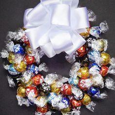 Chocolate Lover Truffle Candy Gift Wreath by CandyWreathsbyCarla