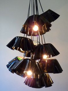 Get Funky with Vintage Vinyl Record Lighting