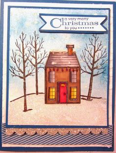 Crafty Maria's Stamping World: White Winter meets Holiday Home