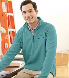 With this men's ThermaCheck from Lands' End Business Outfitters, the men in your office will look great.  Take advantage of the money-saving rebate from RebateBlast.